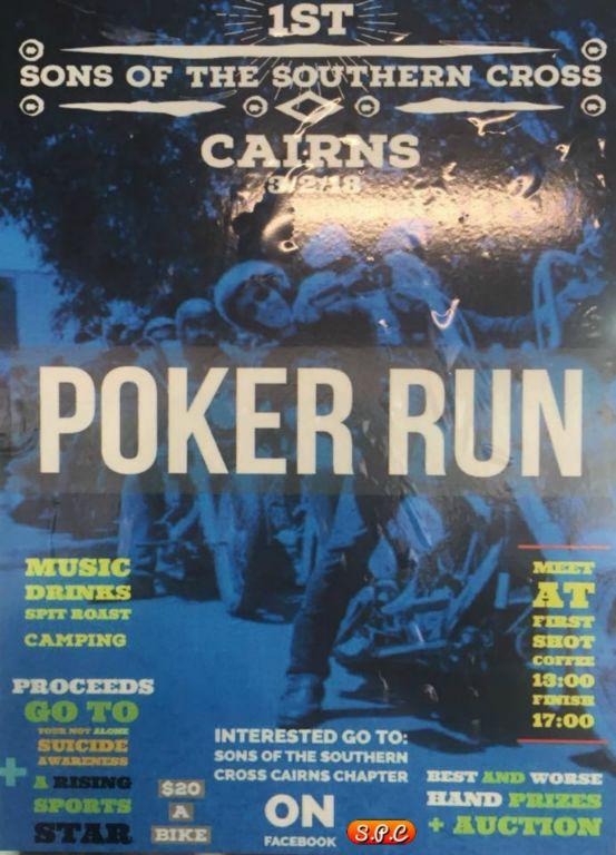Poker Run Flyers Among Indian